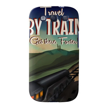 Travel by train Full Wrap High Quality 3D Printed Case for Samsung Galaxy S3 by Nick Greenaway