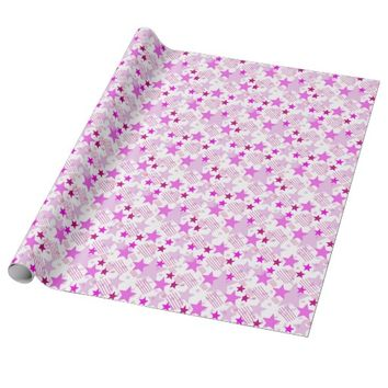 Pink Stars and Stripes Gift Wrapping Paper