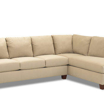 Queen Chaise Sectional Sleeper Sofa Savvy Sienna