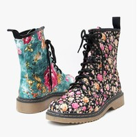 Nicole Lee Floral Lace-up Boot