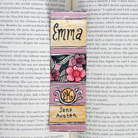 Hand Painted Bookmark // Emma Classic Hardcover // Book Spine Bookmark // Jane Austen // Gift for Readers // Book Club Gift