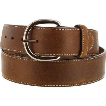 Silver Creek Men's Brown Classic Western Leather Belt