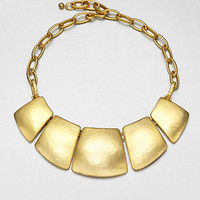 Kenneth Jay Lane - Geometric Bib Necklace