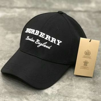 Burberry 2018 trendy men and women fashion wild cap F-Great Me Store black