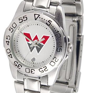 Western State Colorado University Mountaineers Ladies' Sport Steel Watch