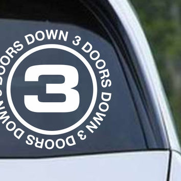 3 Doors Down Die Cut Vinyl Decal Sticker