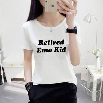 retired emo kid tumblr shirt hipster grunge instagram T-shirt aesthetic t shirt Casual tops moletom do tumblr t shirt tees