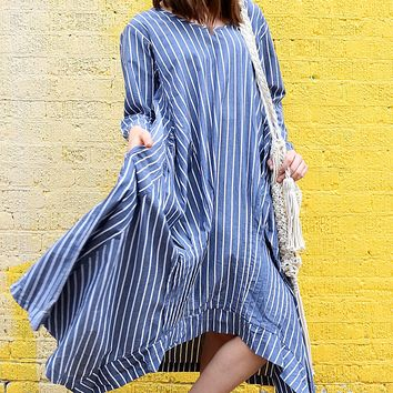 Lexi Dress - Nantucket Stripe by Tulip Clothing