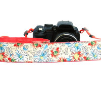 Floral dSLR Camera Strap.Flowers Camera Strap. Women accessories