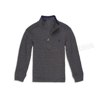 Polo Ralph Lauren Zip Neck Sweater Gray