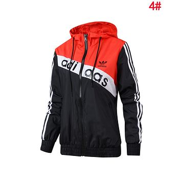 Adidas Fashion Women Men Hoodie Zipper Cardigan Sweatshirt Jacket Coat Windbreaker Sportswear 4#