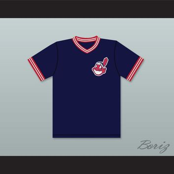 Lou Brown 34 Dark Blue Baseball Jersey Major League