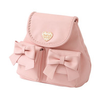 If it is ribbon pocket mini rucksack (bag) Petit plaque fashion mail order dream perspective 【Official site】