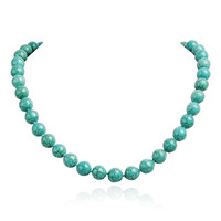 Fashion Turquoise Beads Statement Gemstone Necklace