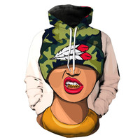 Gold Grill Gutta Chick Hoodie
