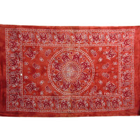 Twin Size Red Elephant Indian Hippie Tie Dye Dorm Decor Tapestry Wall Hanging