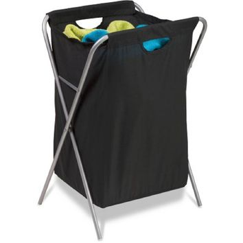 Honey-Can-Do Fold Up Nylon Hamper, Black