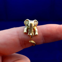 STUNNING Elephant ring in brass, Animal ring, Lucky ring, Wealthy ring, Sizable ring, Cool jewelry, Handmade ring, Artisan jewellery