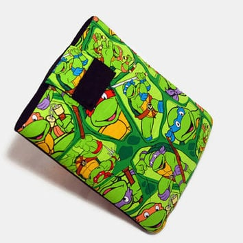 Hand Crafted Tablet Case From Licensed Ninja Turtles Fabric/Case for iPad,Kindle Fire HD, iPad Mini, iPad Air, Samsung Galaxy Tab