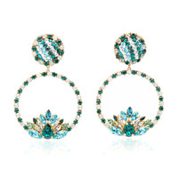 Hula Hoop Green Earrings | Moda Operandi