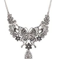 New Arrival Gift Shiny Jewelry Stylish Vintage Hollow Out Butterfly Lock Accessory Necklace [6573101703]