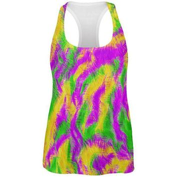 DCCKIS3 Mardi Gras Bourbon Street Monster Costume All Over Womens Work Out Tank Top