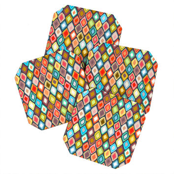 Sharon Turner Almas diamond ikat Coaster Set