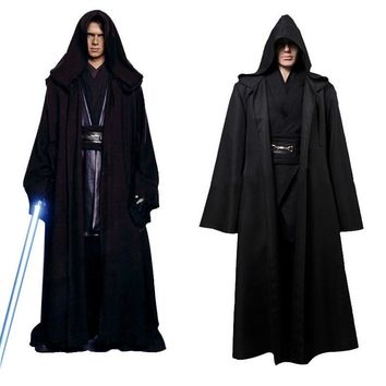 Star Wars Force Episode 1 2 3 4 5 Unisex Halloween  Jedi/Sith Knight Cloak Cosplay Adult/Kids Hooded Robe Cloak Cape Halloween Cosplay Costume Only Cape AT_72_6