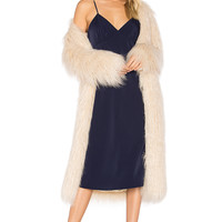 House of Harlow 1960 x REVOLVE Marisa Faux Fur Coat in Ivory