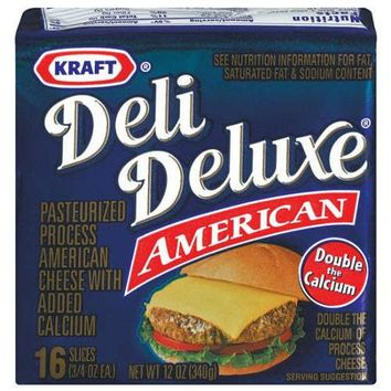 Kraft Deli Deluxe American Cheese Slices, .75 oz, 16 count - Walmart.com
