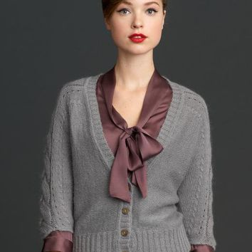 The Mad Men?- Collection cabled dolman cardigan | Banana Republic