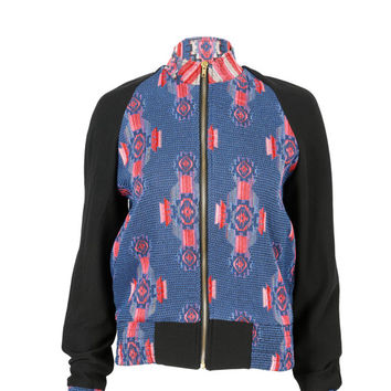 Liquorish pink/blue aztec print jacket