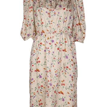 Miss O By Oscar De La Renta Vintage 1980S Floral Dress