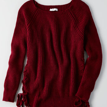 Don't Ask Why Oversize Sweater, Twilight Red