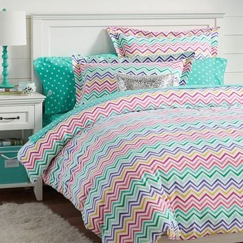 Color Me Zig Zag Duvet Cover + Sham