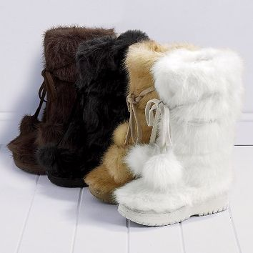 Faux Fur Pom-pom Boot - Colin Stuart?- - Victoria's Secret