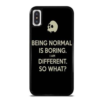 NORMAL IS BORING QUOTES iPhone X Case Cover