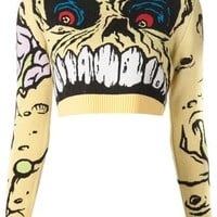 Jeremy Scott 'madball' Cropped Sweater - Odd. - Farfetch.com