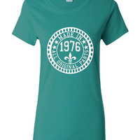 Made in 1976 All Original Parts Tshirt. 39th Birthday Shirt.  Funny Birthday Tshirts. Ladies and Mens Unisex Styles. Makes A Great Gift.