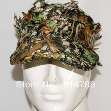 3D REALTREE CAMO HUNTING AIRSOFT LEAF NET GHILLIE HAT CAP -32550