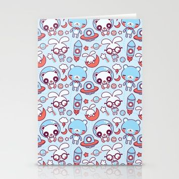 Kawaii Pattern Stationery Cards by Pamela Barbieri