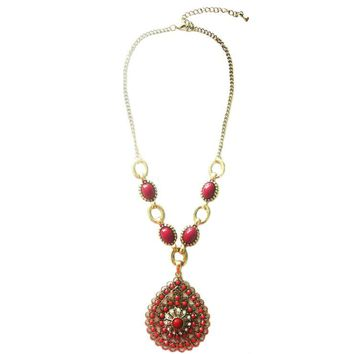 Atomic Gold And Crimson Necklace