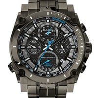 Bulova Mens Gray Chronograph Bracelet Watch