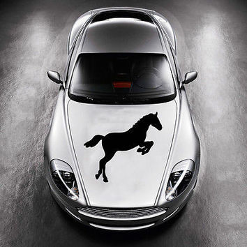 BEAUTIFUL HORSE ANIMAL ART MURALS DESIGN  HOOD CAR VINYL STICKER DECALS SV1224