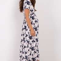 White-Floral-Hi-Low-Wrap-Dress
