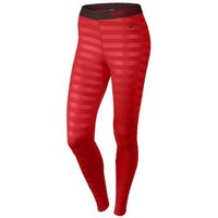Nike Pro Hyperwarm Embossesd Tights - Women's at Lady Foot Locker