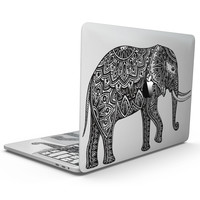 Black and White Aztec Ethnic Elephant - MacBook Pro with Touch Bar Skin Kit