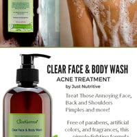 Acne Clear Face & Body Wash / Acne Face & Body Wash
