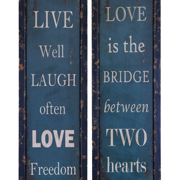Life And Love Wall Plaque And D'cor
