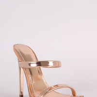 Shoe Republic LA Patent Two Band Stiletto Heel